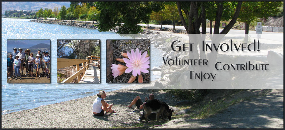 Images of parks, hiking trails and call to get involved by volunteering, contributing and enjoying