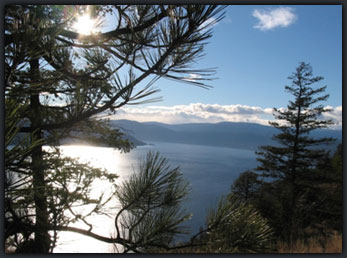 View from West Kelowna hiking trail